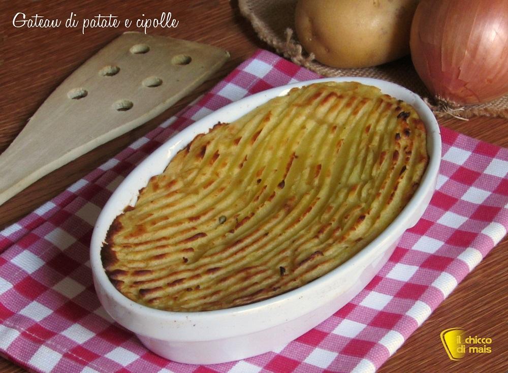 Gateau di patate e cipolle ricetta facile senza uova il chicco di mais