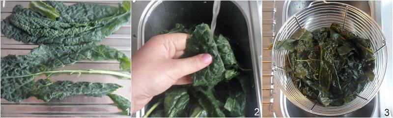 cavolo nero in padella ricetta facile il chicco di mais 1 pulire il cavolo