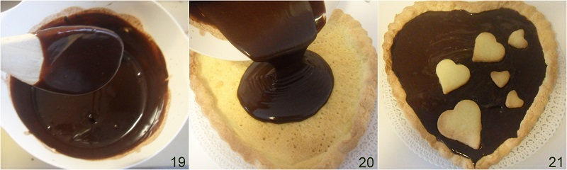 crostata con ganache al cioccolato ricetta dolce a cuore per san valentino il chicco di mais 7 farcire la crostata