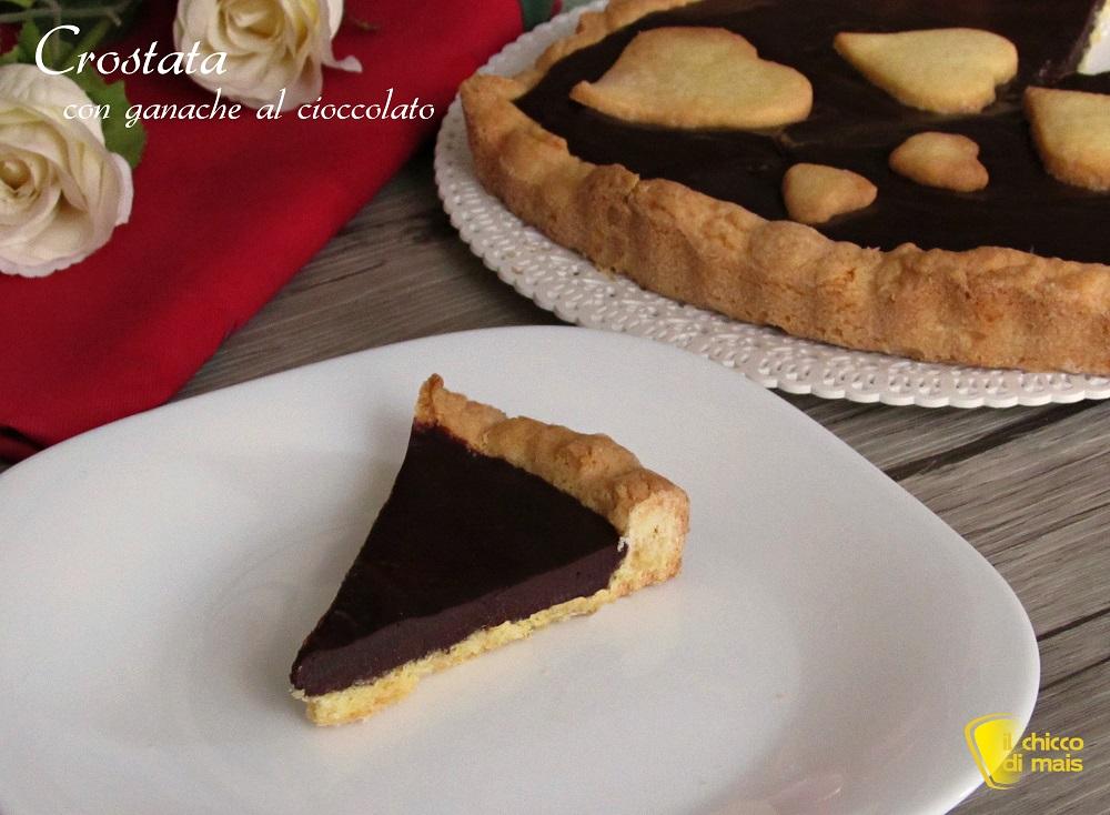 menu cena di san valentino ricette facili dolce crostata al cioccolato il chicco di mais