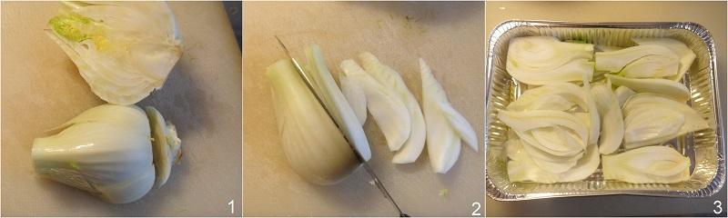 finocchi gratinati ricetta leggera light gustosa facile veloce il chicco di mais 1 tagliare i finocchi