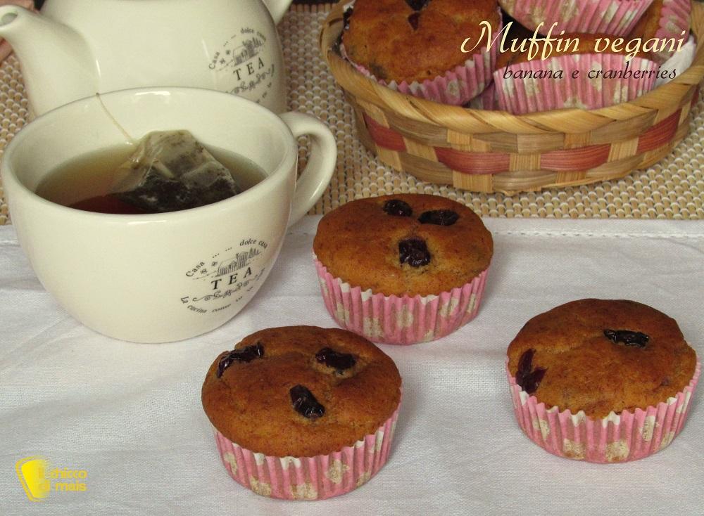muffin vegani banana e cranberries ricetta facile muffin senza uova il chicco di mais