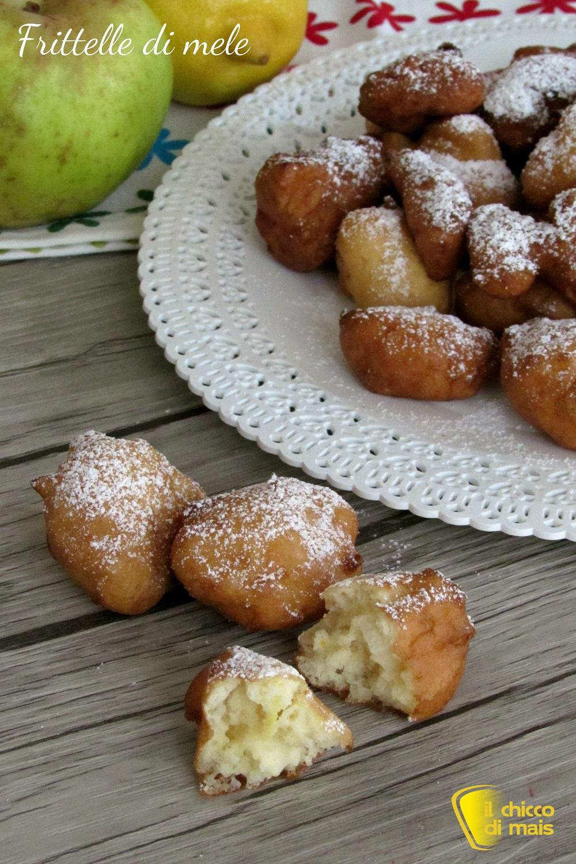 verticale frittelle di mele con mele a pezzetti ricetta facile e veloce anche senza glutine