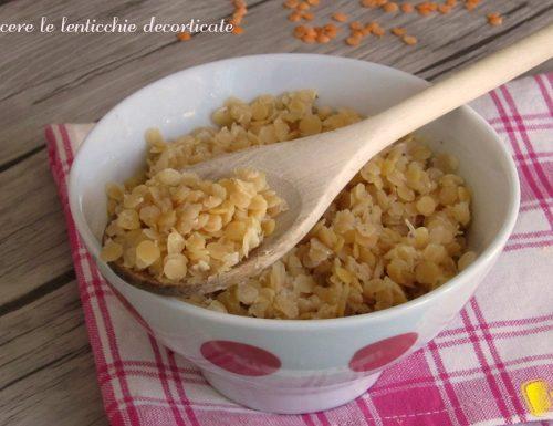 Come cuocere le lenticchie decorticate