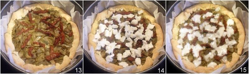 Torta salata ai carciofi e mozzarella ricetta facile e gustosa il chicco di mais 5 cuocere la torta salata