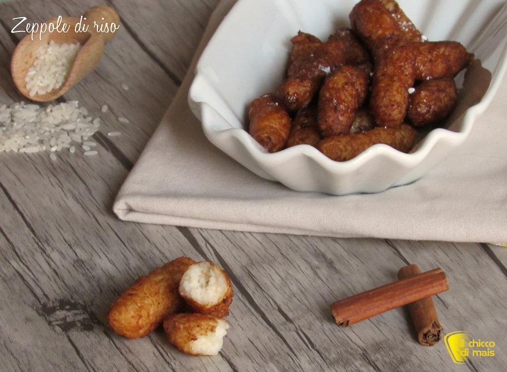 dolci di carnevale Zeppole di riso dolci o crispelle di riso ricetta siciliana per la festa del papà il chicco di mais
