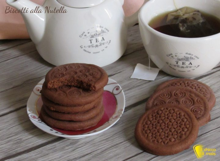biscotti alla nutella ricetta facile e veloce senza burro il chicco di mais
