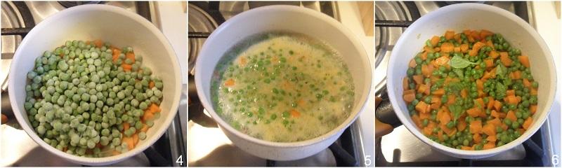 carote e piselli ricetta contorno veloce il chicco di mais 2 unire i piselli