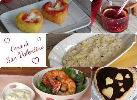 Menu per la cena di San Valentino