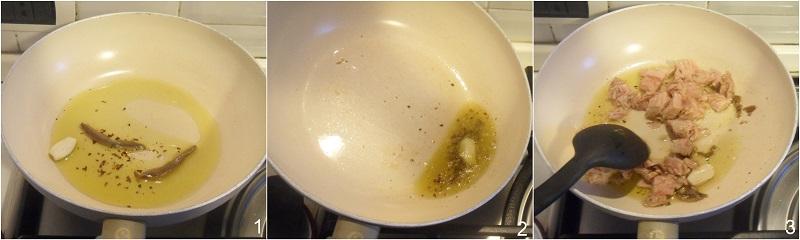 pasta al tonno ricetta semplice e saporita il chicco di mais 1 soffritto aglio e alici