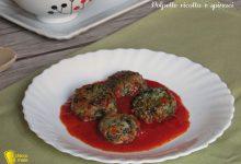 Polpette ricotta e spinaci al pomodoro