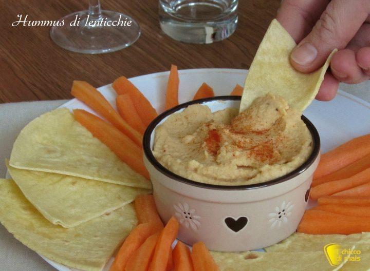 Hummus di lenticchie ricetta facile crema di lenticchie per crostini e pinzimonio il chicco di mais
