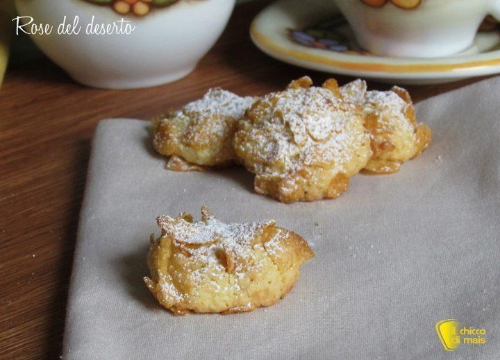 Rose del deserto ricetta biscotti facili con corn flakes il chicco di mais