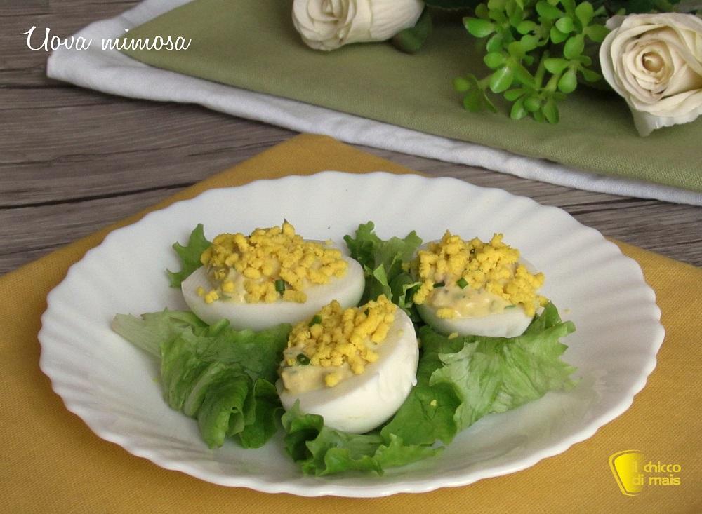 secondi veloci uova mimosa con olive e pomodori secchi ricetta per la festa della donna 8 marzo il chicco di mais