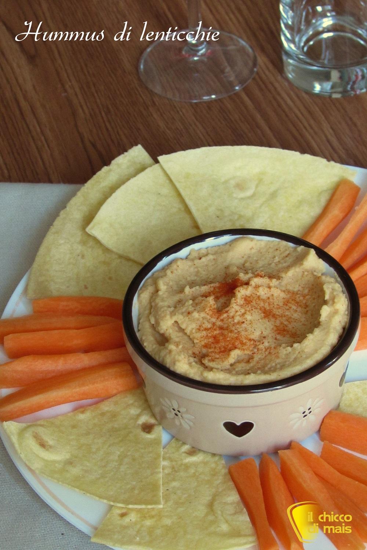 verticale_Hummus di lenticchie ricetta facile crema di lenticchie per crostini e pinzimonio il chicco di mais