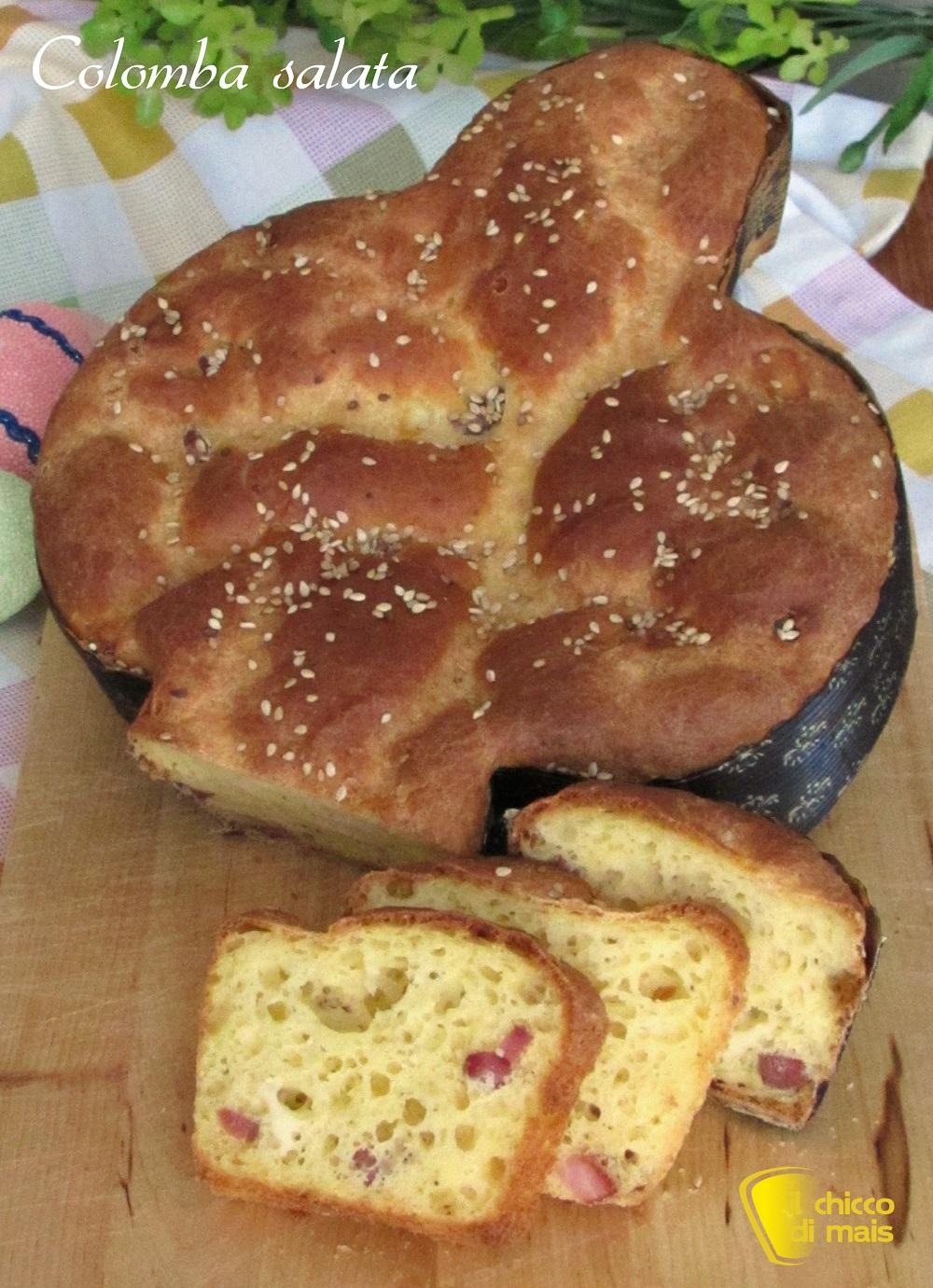 verticale_colomba salata con salumi e formaggi ricetta rustico di pasqua anche senza glutine il chicco di mais