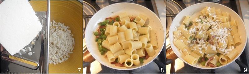 Pasta asparagi e pancetta ricetta primo veloce ricette con asparagi il chicco di mais 3 mantecare la pasta