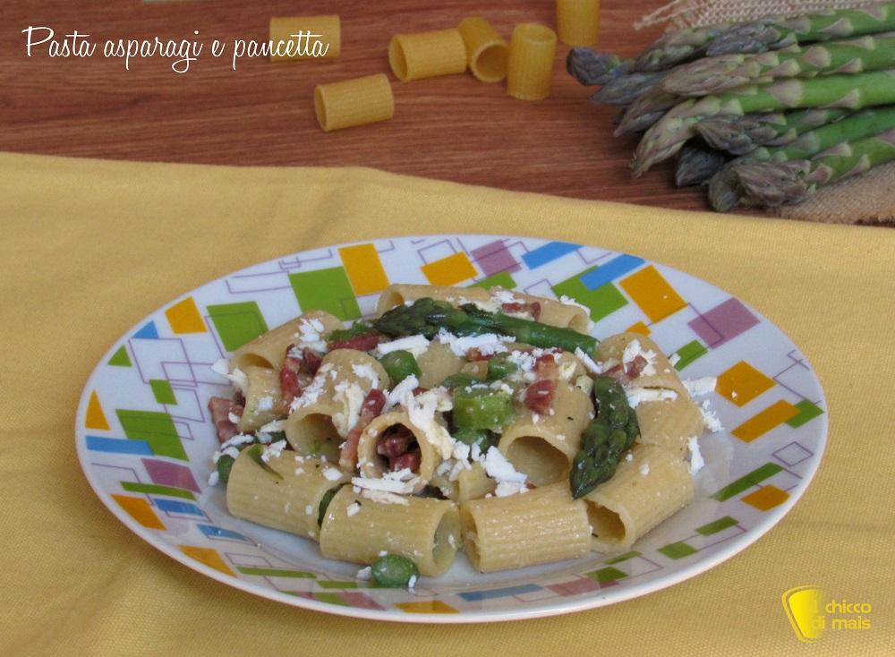 Pasta asparagi e pancetta ricetta primo veloce ricette con asparagi il chicco di mais