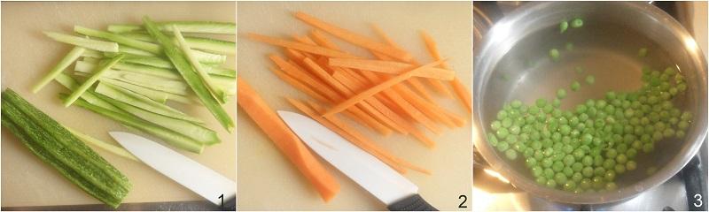 Riso venere con verdure alla curcuma ricetta light il chicco di mais 1 tagliare le verdure