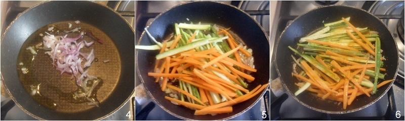 Riso venere con verdure alla curcuma il chicco di mais for Verdure alla julienne