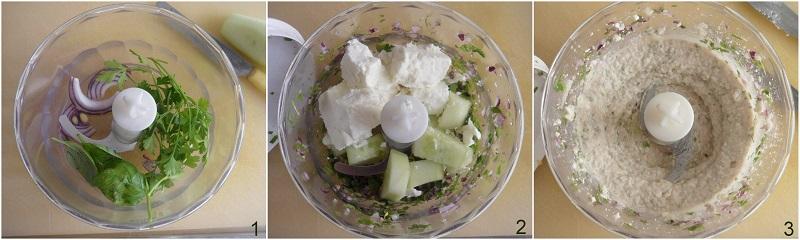 crema di feta spalmabile ricetta mousse di feta per crostini panini dip pinzimonio ricetta il chicco di mais 1 tritare le verdure