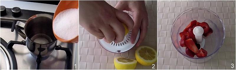 Limonata alle fragole ricetta bevanda dissetante con fragole fresche analcolica il chicco di mais 1 fare lo sciroppo