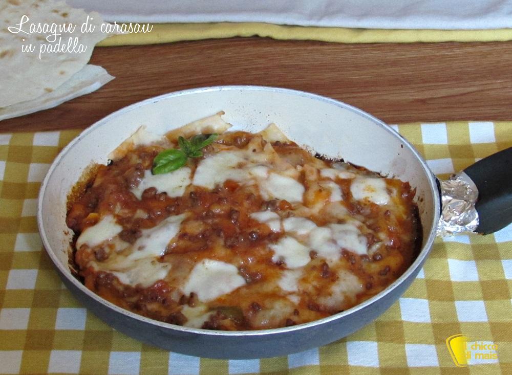 lasagne di carasau in padella ricetta veloce il chicco di mais