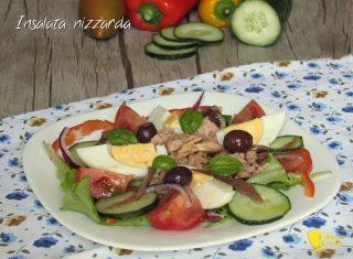 menu di ferragosto 2017 Insalata nizzarda salade nicoise ricetta originale di Nizza il chicco di mais