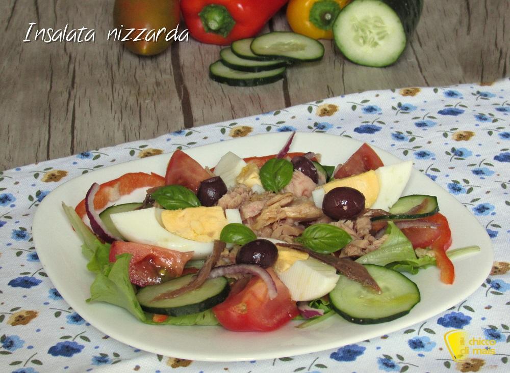 secondi veloci Insalata nizzarda salade nicoise ricetta originale di Nizza il chicco di mais