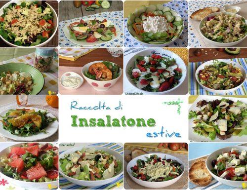 Raccolta di insalatone estive