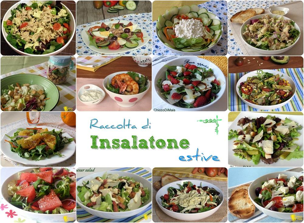 Raccolta di insalatone estive ricette leggere gustose il chicco di mais