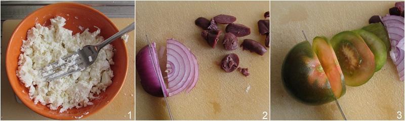panino alla greca con feta ricetta facile estiva il chicco di mais 1 sbriciolare la feta