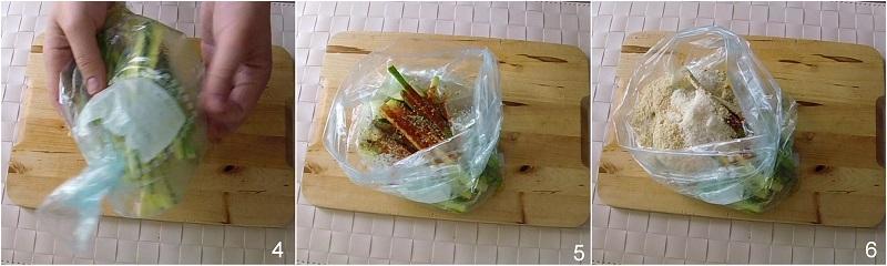 stick di zucchine al forno croccanti ricetta light facile e veloce con pangrattato e spezie il chicco di mais 2 condire le zucchine nel sacchetto