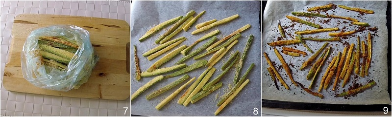stick di zucchine al forno croccanti ricetta light facile e veloce con pangrattato e spezie il chicco di mais 3 cuocere le zucchine in forno