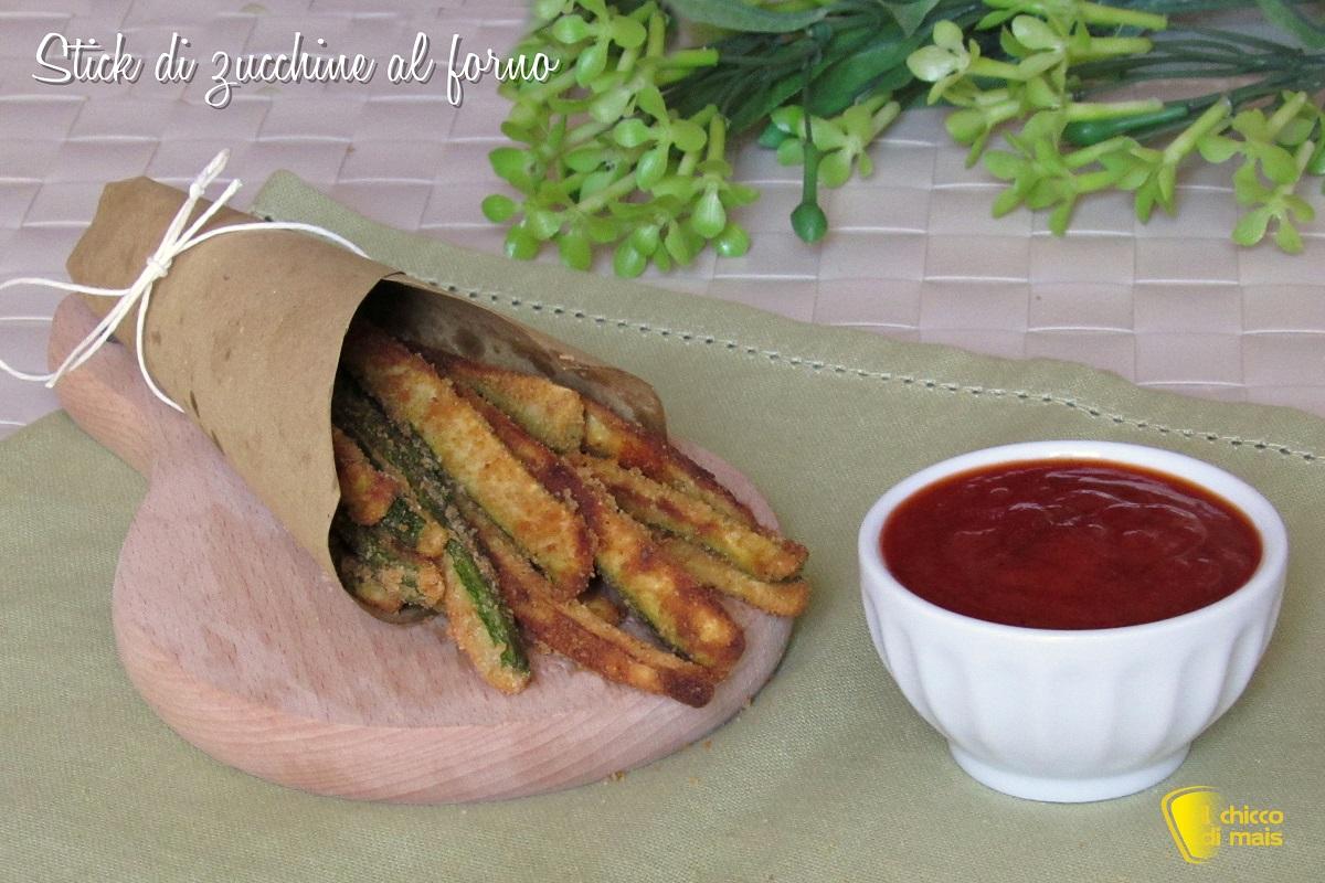 stick di zucchine al forno croccanti ricetta light facile e veloce con pangrattato e spezie il chicco di mais
