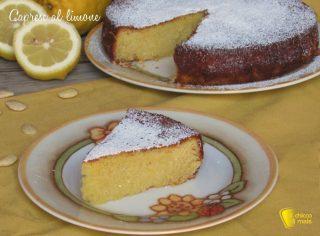menu di ferragosto 2017 torta caprese al limone ricetta originale dolce senza farina il chicco di mais