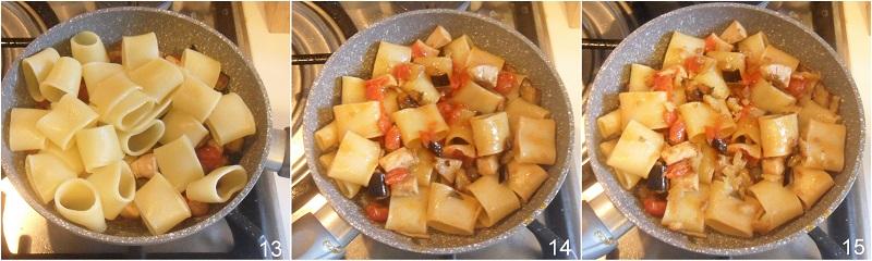 Pasta con pesce spada e melanzane ricetta siciliana facile e gustosa il chicco di mais 5 mantecare la pasta