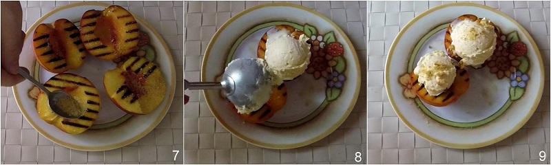 Pesche grigliate con gelato e amaretti ricetta dolce facile e veloce estivo il chicco di mais 3 aggiungere il gelato