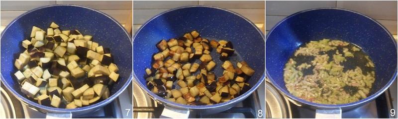 caponata di pesce spada con melanzane ricetta siciliana facile agrodolce il chicco di mais 3 soffriggere le melanzane