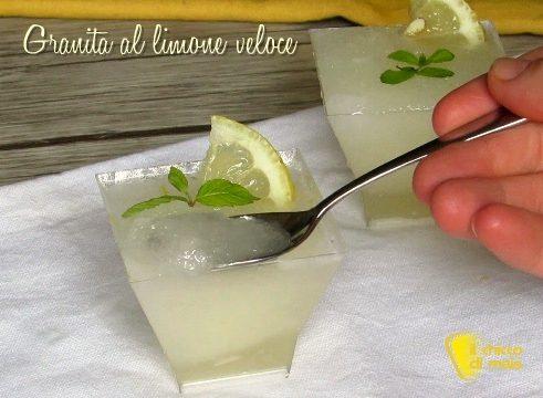 Granita al limone veloce