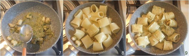 pasta con rana pescatrice e pesto di zucchine ricetta facile e cremosa il chicco di mais 3 mantecare i paccheri