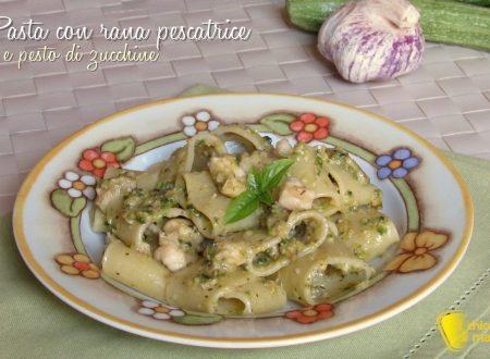 Pasta con rana pescatrice e pesto di zucchine