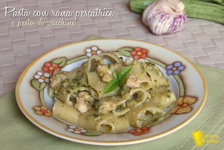 pasta con rana pescatrice e pesto di zucchine ricetta facile e cremosa il chicco di mais