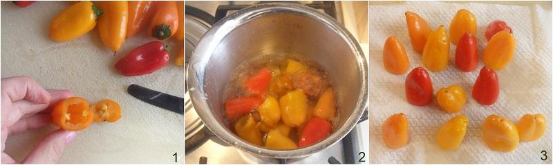peperoncini ripieni di tonno ricetta con peperoncini dolci o piccanti il chicco di mais 1 sbollentare i peperoncini
