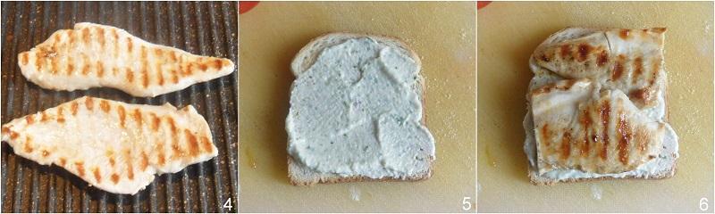 sandwich al pollo con bacon e crema di feta ricetta il chicco di mais 2 grigliare il pollo