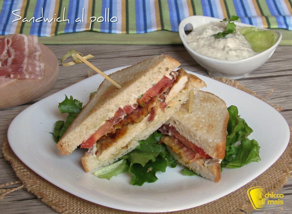 sandwich al pollo con bacon e crema di feta ricetta il chicco di mais