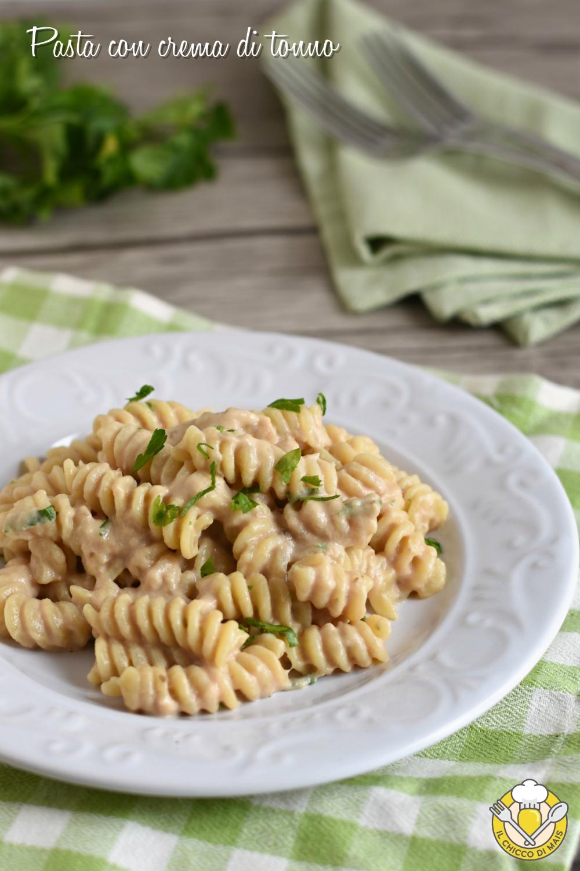 v_ Pasta con crema di tonno o pasta tonnata ricetta facile e veloce il chicco di mais