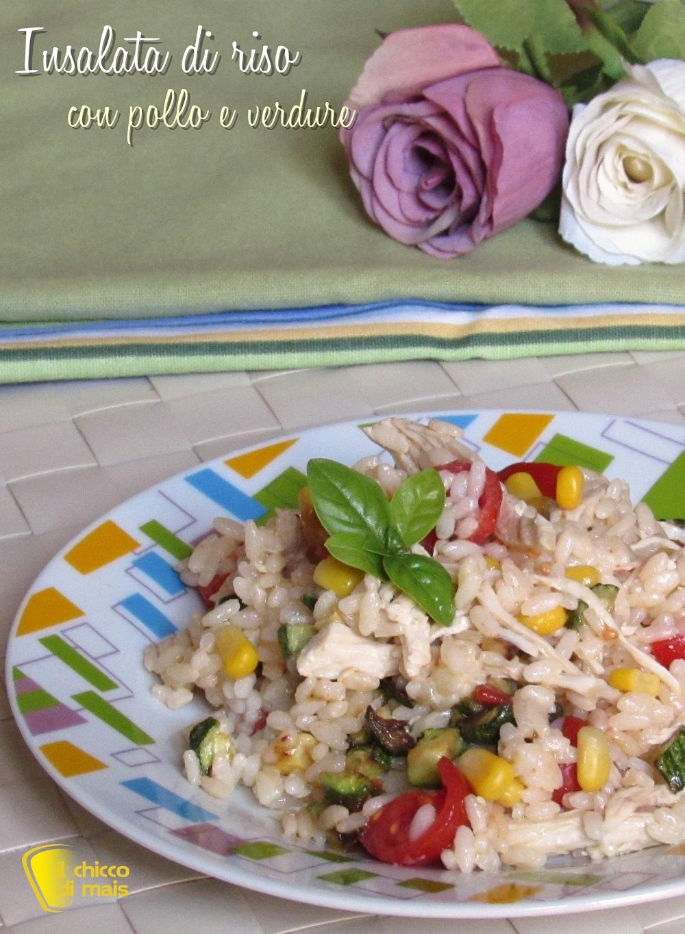 verticale_insalata di riso con pollo e verdure ricetta estiva riso freddo con pollo sfilacciato il chicco di mais