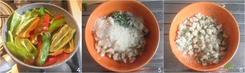 Peperoni friggitelli ammollicati in padella ricetta peperoni con mollica di pane il chicco di mais 2 preparare la panatura
