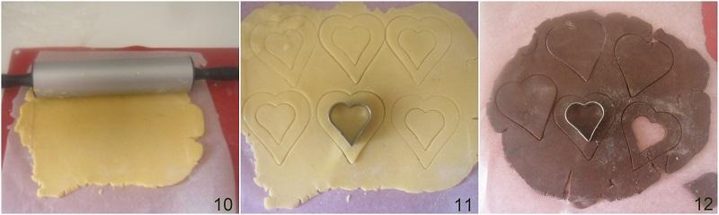 biscotti bicolore a cuore ricetta dolci san valentino il chicco di mais 4 formare i biscotti bicolore
